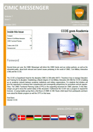 CIMIC Messenger 2015-03_CCOE goes Academia