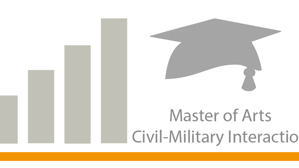 "Start of the enrollment process for the Master of Arts degree: ""Civil-Military Interaction""."