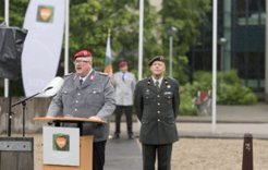 New Director Colonel Wolfgang Paulik adressing the guests